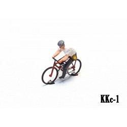 Hybrid cyclist man ready to run HO/OO for Magnorail System KKc-1
