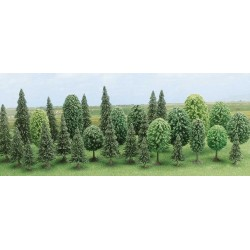 Assortiment de 30 arbres forestiers HO Busch 6489 - Maketis