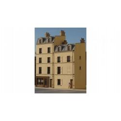 Immeuble de ville étroit mansardé R+3 HO Cités Miniatures BV-016