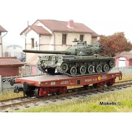"Porte-char Rlmmp SNCF Ep.IV + Char AMX 30B ""ANJOU"" HO REE WBA-023 - Maketis"
