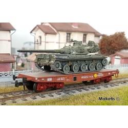 "Porte-char Rlmmp SNCF Ep.IV + Char AMX 30B ""BRETAGNE"" HO REE WBA-024 - Maketis"