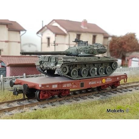 "Porte-char Rlmmp SNCF Ep.IV + Char AMX 30B ""MASSENA"" HO REE WBA-025 - Maketis"