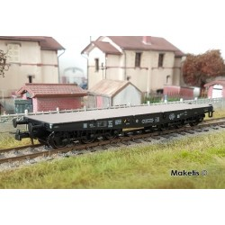 Wagon plat charges Lourdes SSym46 noir 99515 Ep.III A HO REE WBA-027 - Maketis