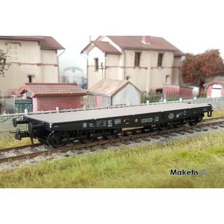 Wagon plat charges Lourdes SSym46 noir 99596 Ep.III A HO REE WBA-028 - Maketis