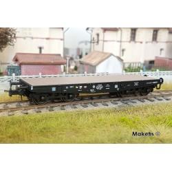 Wagon Porte-char SSy45 Noir bogie allemand SSyw 18444 Ep III A HO REE WBA-019 - Maketis
