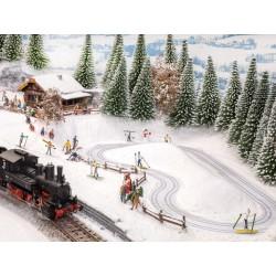 Micro-motion piste de ski de fond et refuge HO Noch 66832 - Maketis