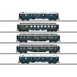 """Coffret 5 voitures """"Simplon-Orient-Express"""" digital son Ep II HO Trix 23219 - Maketis"""