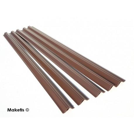 Sheet pile profile H0 (1:87) 5 pcs 33 cm Maquett 470-54/3 - Maketis
