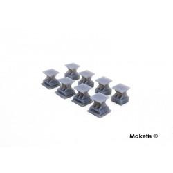 Brückenlager eingleisig 8 StkH0 Maketis 9012 - Maketis