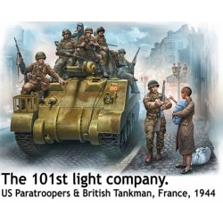 Parachutistes américains 101ème, France 1944 1/35 Master Box 35164 - Maketis