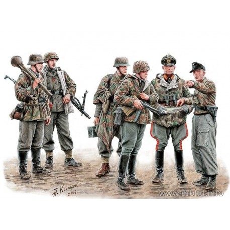 """Let´s stop them here"" Militaires Allemands 1945 1/35 Master Box 35162 - Maketis"