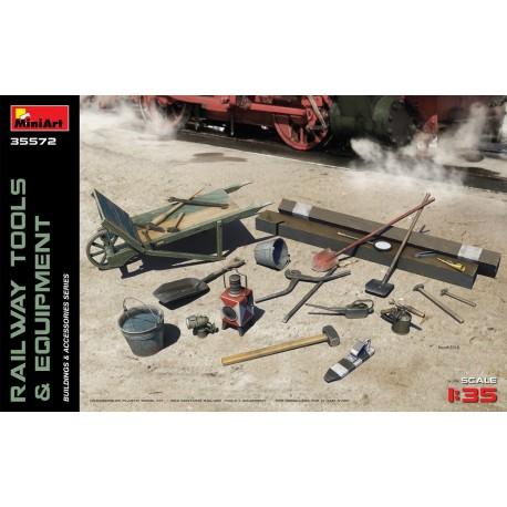 Outils et équipements de chemin de fer 1/35 Miniart 35572 - Maketis