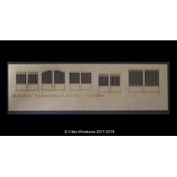 Assortiment de 6 portails en fer forgé Cités miniatures ED-051-P2-HO