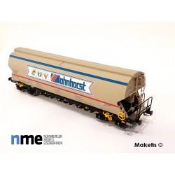 Silo wagon Tagnpps 130m3, Bohnhorst beige ep. 6, ref 507601 - MAKETIS
