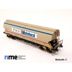Wagon céréalier Tagnpps 102m3, Bohnhorst beige EP VI, ref- - MAKETIS 507601
