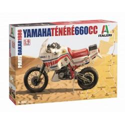 Moto Yamaha Tenere 660cc Paris Dakar 1986 1/9 Italeri 4642