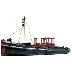 Remorqueur fluvial à vapeur en kit résine HO Artitec 50103