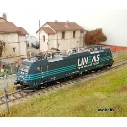Locomotive électrique 186 LINEAS Ep VI analogique HO Roco 73214 - Maketis