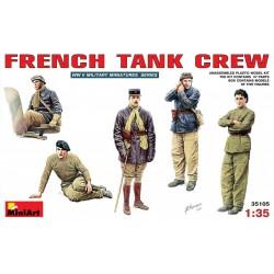 Equipage de char Français WWII 1/35 Miniart 35105 - Maketis