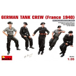 Equipage de char Allemand WWII (France 1940) 1/35 Miniart 35191 - Maketis