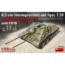 Char allemand Jagdpanzer SU-85 WWII avec équipage 1/35 Miniart 35229 - Maketis
