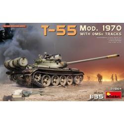 Char soviétique T-55 Modèle 1970 chenilles OMSh 1/35 Miniart 37064 - Maketis