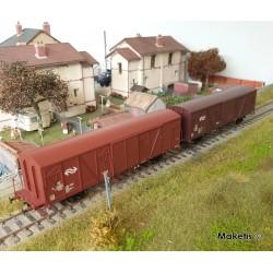 Set de 2 wagons couverts NS Gbs Epoche IV HO Exact-train EX20259 - Maketis