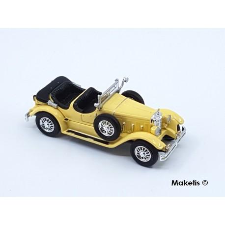 Mercedes Benz 630K jaune clair toit ouvert HO Brekina-Ricko 38510