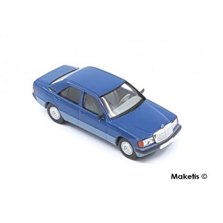Mercedes Benz 190 E série 1 bleue HO Brekina-Starmada 13202