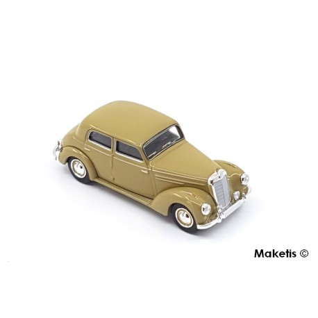 Mercedes Benz 220 beige foncé HO Brekina-Starmada 13054