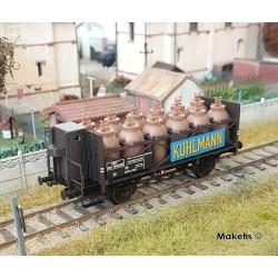 Wagon transport d'acide SZwf Kuhlmann SNCF Ep III HO Brawa 49317 - Maketis