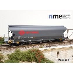 Wagon céréalier Tagnpps 101m3 ERMEWA gris Ep VI HO NME 512620