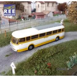 Autocar R4190 Jaune et Blanc SNCF - Service Rodez - Séverac (81) HO REE CB-121 - Maketis