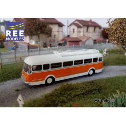 Autocar R4190 Orange et Gris - Transport Méresse - Iwuy (59) HO REE CB-122 - Maketis
