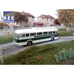 Autocar R4190 Vert et Crème - Transport Gras - Libos (47) HO REE CB-124 - Maketis