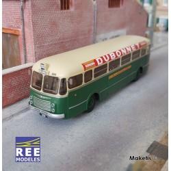 """Bus R4190 Vert et Crème RATP Ligne 262 Publicité """"Dubonnet"""" (75) HO REE CB-129"""