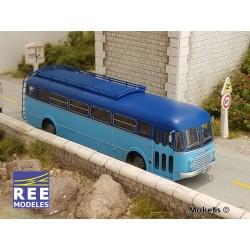 Autocar R4190 Bleu clair / Bleu foncé HO REE CB-123 - Maketis