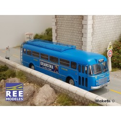 """Autocar R4190 Bleu - Publicité """"Orangina"""" - Hyères/Toulon (83) HO REE CB-126 - Maketis"""