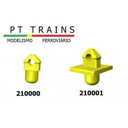 Set de 24 Pointes d'ancrage (avec base) HO PT TRAINS 210001 - Maketis