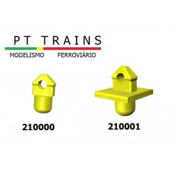 Set de 24 Pointes d'ancrage (sans base) HO PT TRAINS 210000 - Maketis