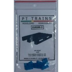 Euro palettes couleur bleu (10 pcs) HO PT TRAINS 210100.2