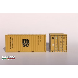 Container 20´DV MSC (MEDU2259143) HO PT TRAINS 820001.1 - Maketis