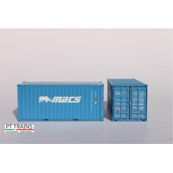 Container 20´DV MACS (MOCU3001822) HO PT TRAINS 820016 - Maketis