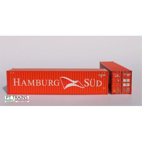 Container 40´HC HAMBURG SÜD (SUDU5757212) HO PT TRAINS 840007.3 - Maketis