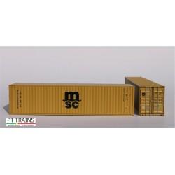 Container 40´HC MSC Eco (MEDU5396197) HO PT TRAINS 840015