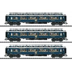 """Coffret 3 voitures """"Simplon-Orient-Express"""" Ep II HO Trix 23220"""
