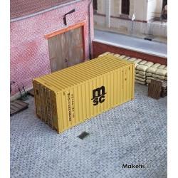 Container 20´DV MSC (MEDU5396197) HO PT TRAINS 820015- Maketis