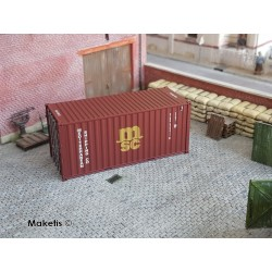 Container 20´DV MSC (GLDU3946348) HO PT TRAINS 820014- Maketis