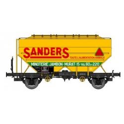 "Wagon céréalier RICHARD ""SANDERS"" SNCF Logo Ancien Ep.III HO REE WB-629"