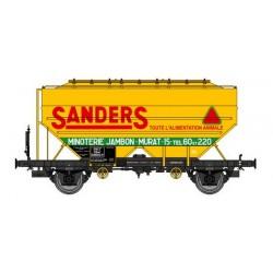 "Wagon céréalier RICHARD ""SANDERS"" SNCF Logo Ancien Ep.III HO REE WB-628"